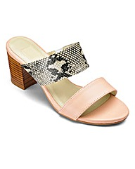 Sole Diva Block Heel Mules E Fit