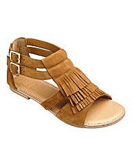 Sole Diva Fringe Sandals E Fit