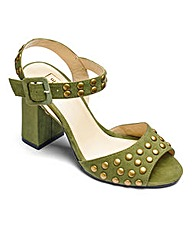 Sole Diva Studded Block Heel EEE Fit