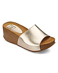 Sole Diva Cork Wedge Mule E Fit