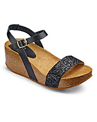 Sole Diva Cork Wedge D Fit