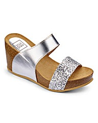 Sole Diva Cork Wedge E Fit