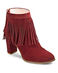 Sole Diva Suede Ankle Boots E Fit