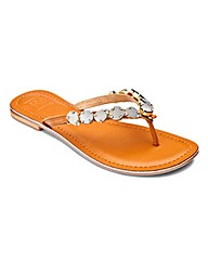 Sole Diva Toe-Post Sandals EEE Fit