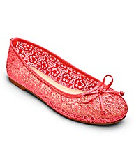 Sole Diva Lace Ballerinas EEE Fit