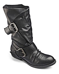 Blowfish Mid Calf Boots Wide E Fit