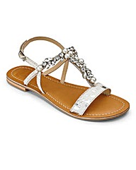 Sole Diva T-Bar Sandals EEE Fit