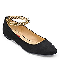 London Rebel Ballerina Pump D Fit
