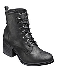 London Rebel Lace Up Boots D Fit