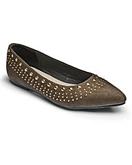 Sole Diva Studded Ballerinas EEE Fit