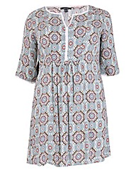Samya Detailed Printed Dress