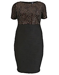 Samya Leopard Print Bodice Dress