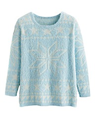Snowflake Fluffy Knit Jumper
