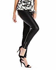 Stretch PU Zip Trousers Regular