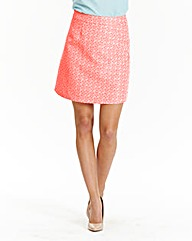 Jacquard A Line Mini Skirt