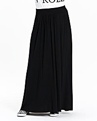 Jersey Maxi Skirt with Side Pockets