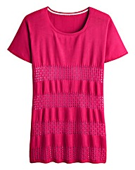 Open Knit Over Sized Knitted Top