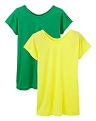 Pack 2 Oversized Slub Jersey T-Shirt