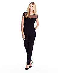 Lace Detail Tapered Leg Jumpsuit