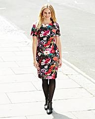 Scuba Floral Bodycon Dress