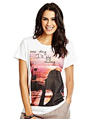 Photo Print Postcard T-Shirt