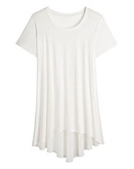 Simply Be Dipped Back Jersey Top