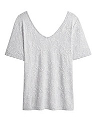 Simply Be V Neck Textured Top