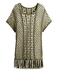 Crochet Fringe Knitted Top