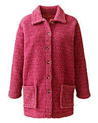 Sherpa Fleece Shirt Jacket