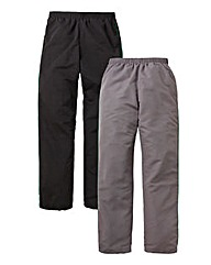 JCM Sports Pack of 2 Woven Joggers 31in