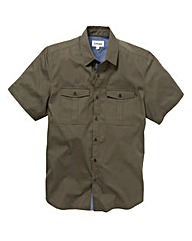 Jacamo Short Sleeve Military Shirt Long