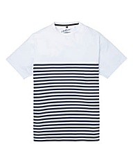 Jacamo Cardiff Stripe T-Shirt Long