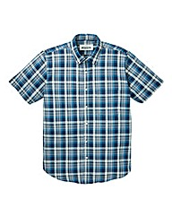 Jacamo Camden S/S Check Shirt Long