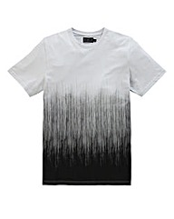 Label J Scribble Fade T-Shirt Long