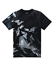 Label J Brushstroke Print T-Shirt Long