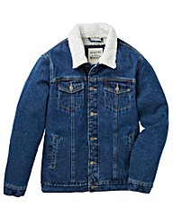 Jacamo Albany Sherpa Lined Denim Jacket