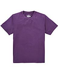Jacamo Dallas Purple Basic Crew Tee Reg