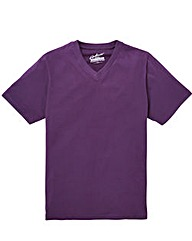 Jacamo Purple Titus V-Neck Tee Long
