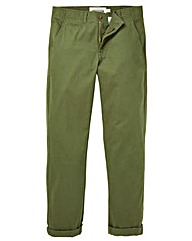 Jacamo Khaki Stretch Tapered Chino 31in