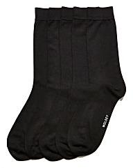 Wolsey 5 Pack Black Bamboo Socks