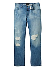 Label J Ripped Bleach Jeans 33in Leg