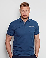 Flintoff by Jacamo Washed Polo Regular