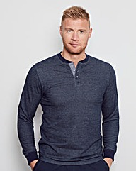 Flintoff By Jacamo L/S Grandad Top Long