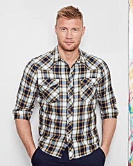 Flintoff by Jacamo Western Shirt Long