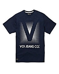 Voi Prints Navy T-Shirt Regular