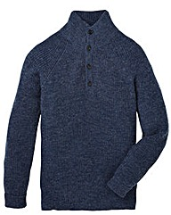 Flintoff by Jacamo Button Neck Jumper