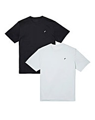 JCM Pack of Two Poly Crew Neck T-Shirts