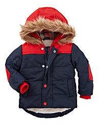 Zip Zap Boys Fur Lined Hooded Coat