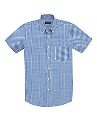 &Brand Tall Mini Check Shirt