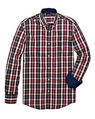 & Brand Tall Madras Check Shirt